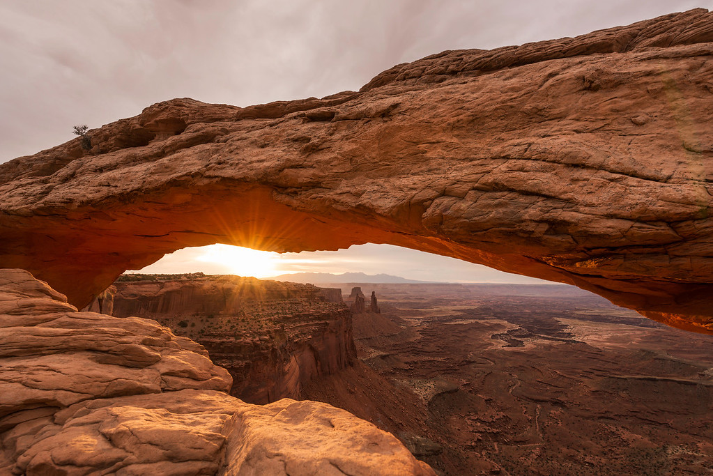 Mesa Arch at sunrise in Canyonlands National Park in Moab, Utah on June 22, 2014.